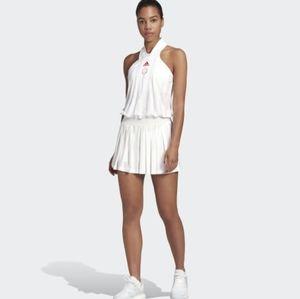 Adidas all in one tennis skirt dress, white,NWT,medium